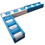 Balance Beams in blue and white